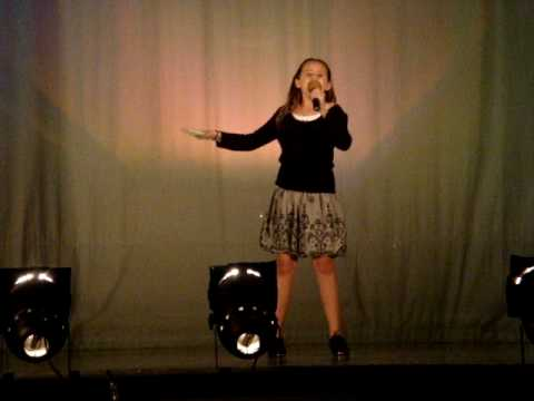Emily Singing And Tapping To Nat King Cole's Orange Colored Sky