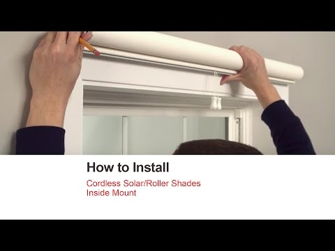 Bali Blinds | How to Install Cordless Solar/Roller Shades - Inside Mount