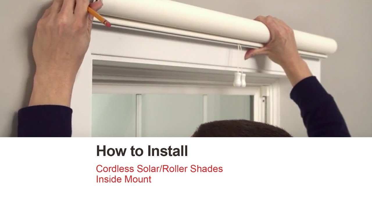 bali blinds how to install cordless solar roller shades inside mount youtube. Black Bedroom Furniture Sets. Home Design Ideas
