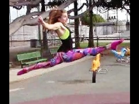 How To Do A Gymnastics Split Leap Quarter to Half Turn With Coach Meggin!