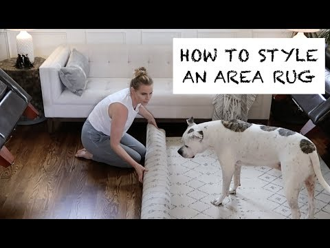 HOW TO STYLE AN AREA RUG | Design Time