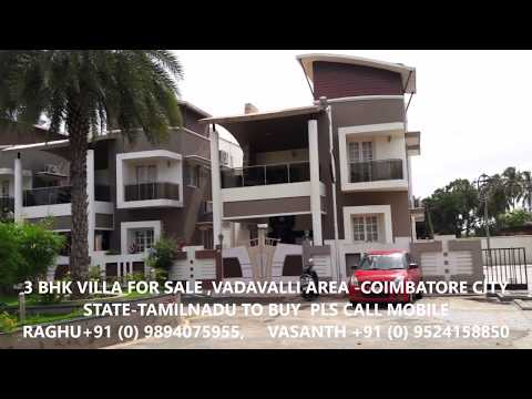 99 lacs 3 bhk villa SALE VADAVALLI,COIMBATORE,TAMILNADU INDIA