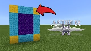 How To Make a Portal to the Aether Dimension in MCPE (Minecraft PE)
