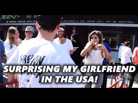 SURPRISING MY GIRLFRIEND IN LA