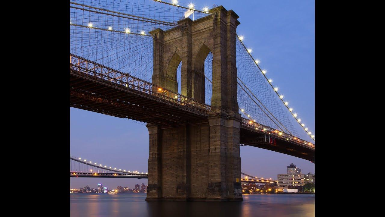 Le pont de brooklyn les 7 merveilles du monde industriel youtube - Toile pont de brooklyn ...