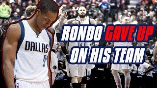 The Time Rajon Rondo QUIT On The Dallas Mavericks (The Year Rondo Cost Himself a Big Pay Day!)