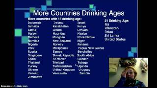 Lowering Legal Drinking Age to 18 Screencast