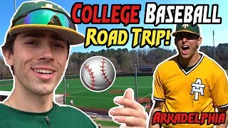 College Baseball Road Trip (EPIC HOME RUNS!!)