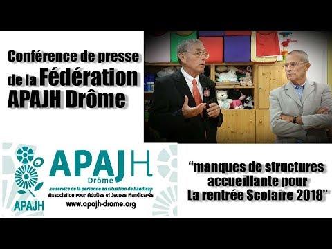 conférence Fédération APAJH Drôme avec Jean Louis GARCIA