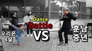 3개국어 능통 4살 오리온 Street Busking 즉흥곡노래 , 댄스 Battle