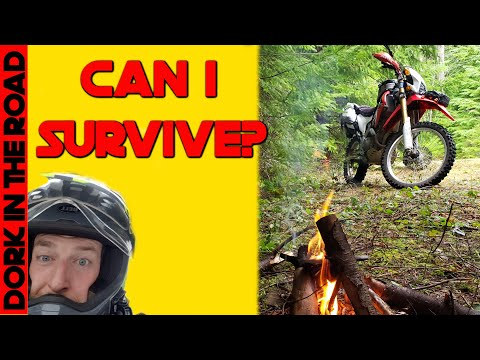 Stranded in the Wilderness, Can I Survive? Dual Sport Motorcycle Survival Gear Test!