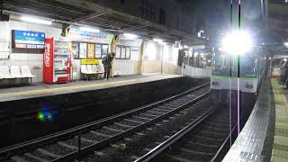 京阪 石山坂本線 600形 611-612 新色化編成 京阪膳所 滋賀里  20180110