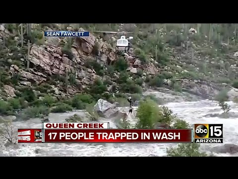 17 people rescued in flash flood near Tucson