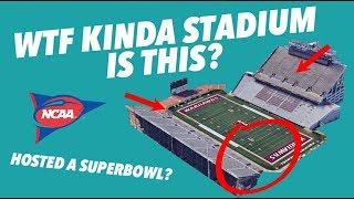 Critiquing the WORST COLLEGE FOOTBALL STADIUMS - One hosted a SUPERBOWL?