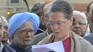 Sonia Gandhi Leads Land Bill March