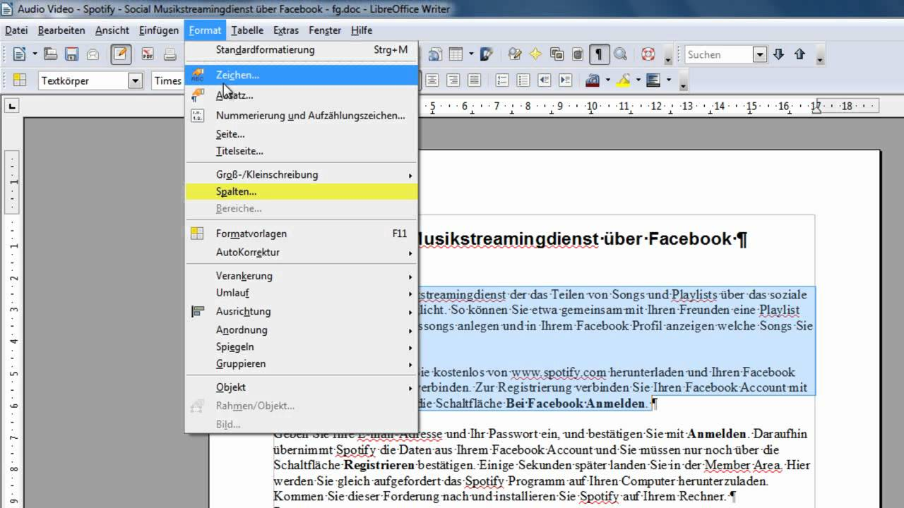 Libreoffice und openoffice writer spaltenlayout erstellen youtube - Openoffice or libre office ...
