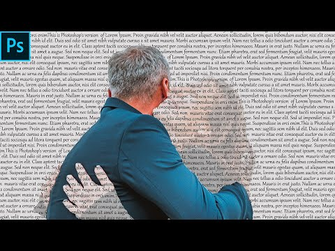 POWERFUL TEXT WRAP PORTRAIT EFFECT IN PHOTOSHOP| TEXT EFFECT | PHOTOSHOP TUTORIAL thumbnail