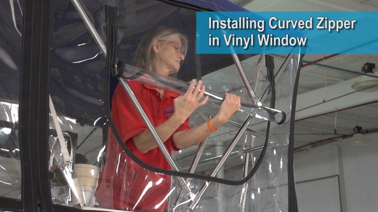 Installing Curved Zipper In Vinyl Window Youtube