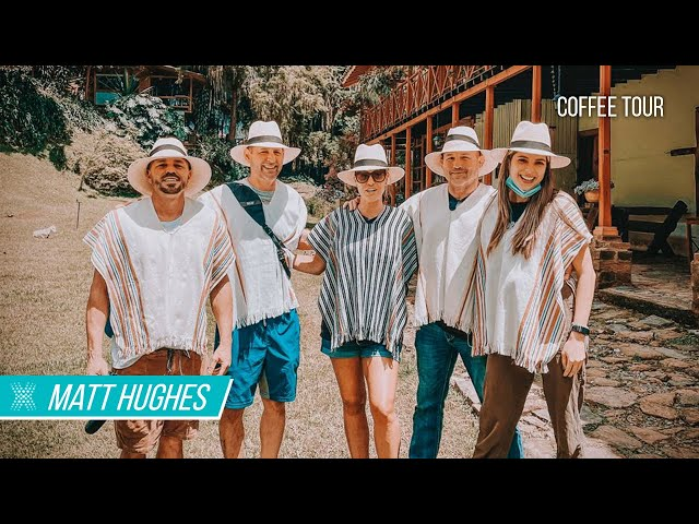 Matt Hughes Explores Colombia On His Wellness Vacation & Takes A Coffee Tour
