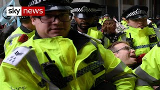 How Extinction Rebellion activists were arrested