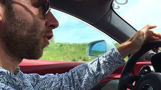 Au volant d'une McLaren 570 GT au salon de l'auto à l'espace Carat