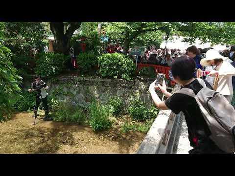 祇園放生会3NHKカメラマンを逆に撮る