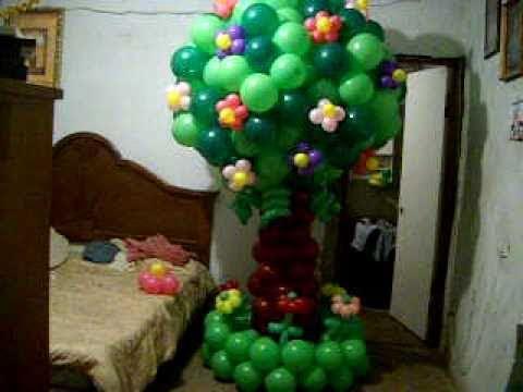 Arbol de globos youtube - Decoracion de navidad con globos ...