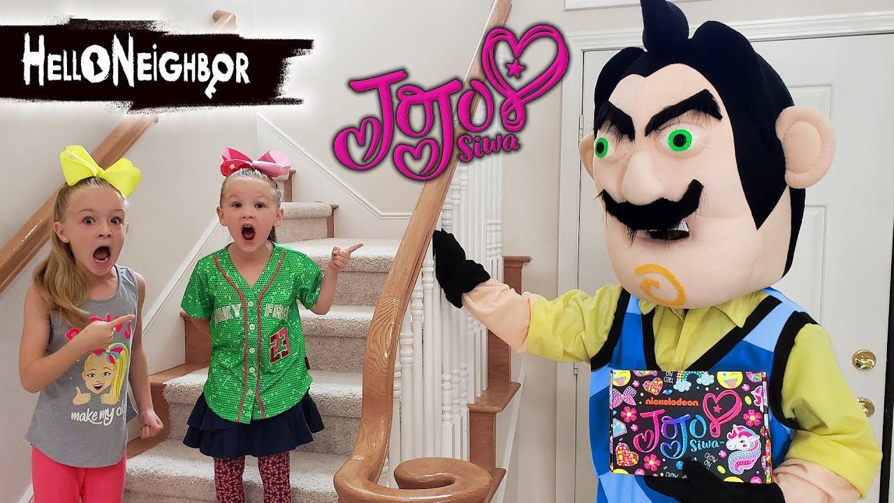 Hello Neighbor In Real Life Steals Jojo Siwa Subscription