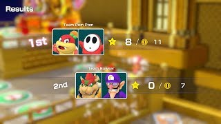 Super Mario Party Partner Party #157 Tantalizing Tower Toys Pom Pom & Shy Guy vs Bowser & Waluigi