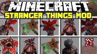 Minecraft STRANGER THINGS MOD / DEMOGORGON, DEMODOGS, DART, SLUGS! Minecraft Mods
