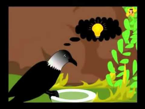 thirsty crow story in english writing with moral