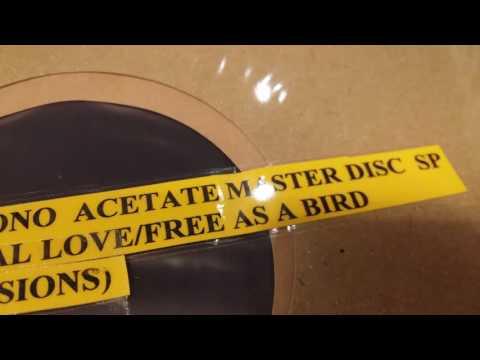"John Lennon - Free As A Bird(Unpublished Version) ~ 1978 10"" 78RPM MONO ACETATE MASTER DISC"