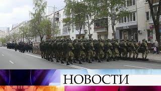 В Самаре военнослужащие провели парады перед окнами ветеранов Великой Отечественной войны.