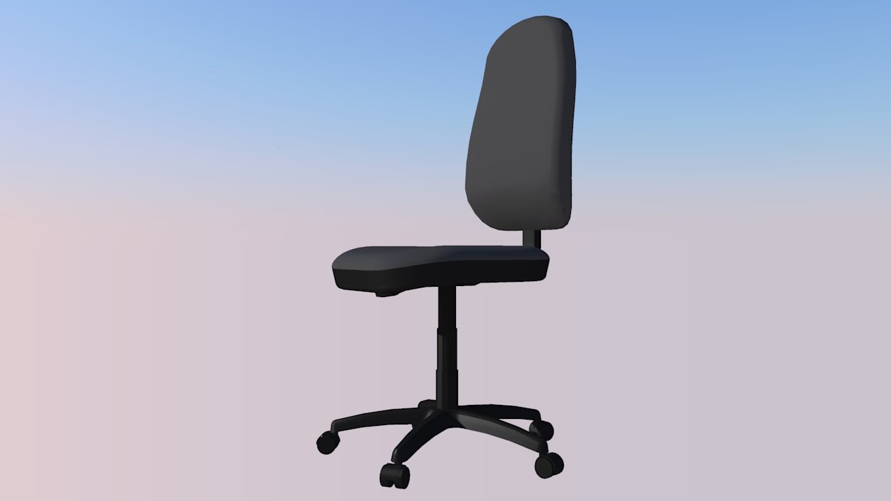 Office Chair 3d Model Best Nursery Rocking 2018 Computer Sketchup Youtube