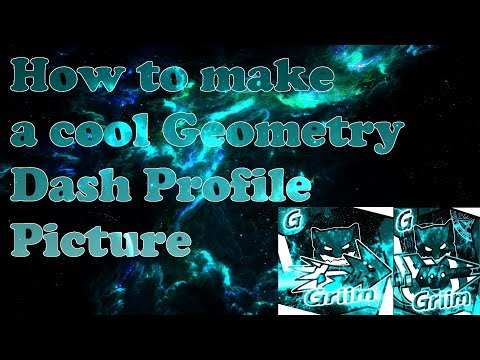 How To Make A Cool Geometry Dash Profile Picture FREE! (NO PHOTOSHOP)