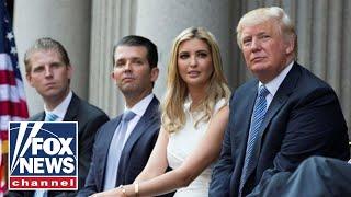 Donald Trump Jr, Eric Trump and Lara Trump hold a news conference