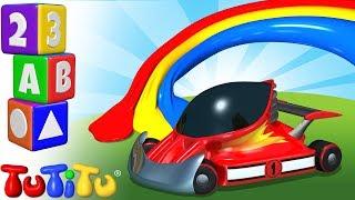 Изучение цвета на английском языке   гоночные машины   TuTiTu дошкольный