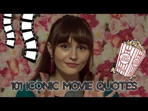 ASMR~101 Iconic Movie Quotes *CLOSE-UP WHISPER*