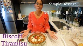 Biscoff Tiramisu Recipe  NO Cooking Required  Indian in Australia  Food Vlog
