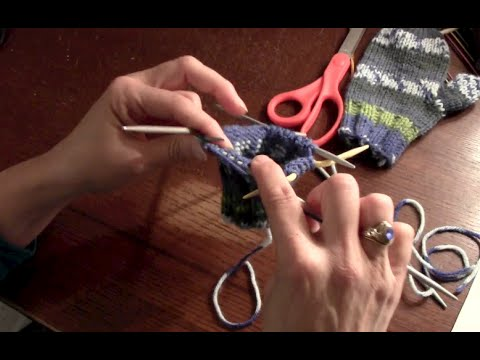 Knitting Childrens Mittens Part 1 Youtube