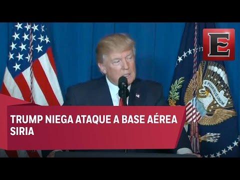 Trump niega ataque contra base aérea siria