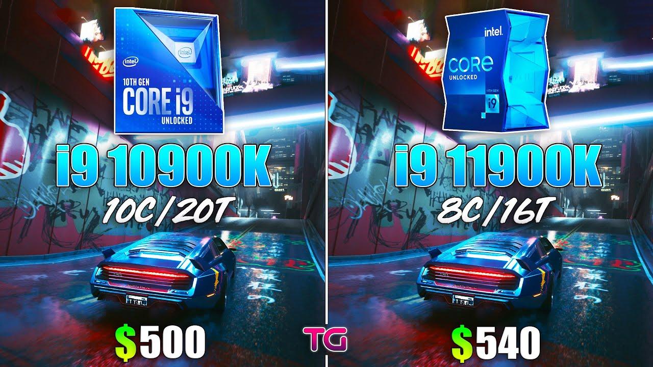 i9 11900K vs i9 10900K - Test in 8 Games