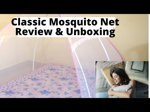 Classic Mosquito Net UnBoxing,Review With Folding & Care Instructions | Folding Mosquito Net
