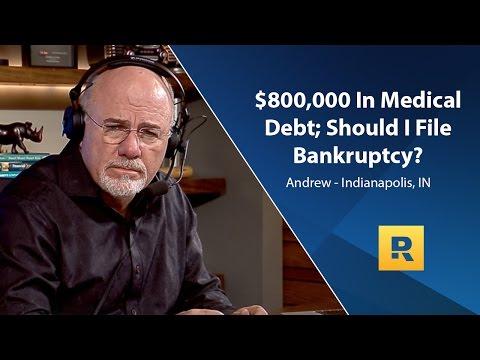 $800,000 In Medical Debt; Should I File Bankruptcy?
