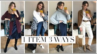 How To Style White Shirt & Slip Dress | Styling Moments