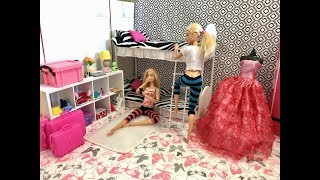 Barbie Bedroom Morning Routine Friend! BunkBeds!