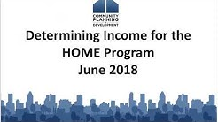 Determining Income for the HOME Program