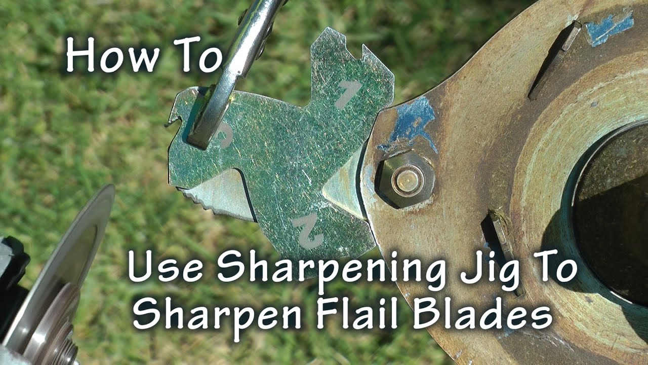 How To Use Jig To Sharpen BrushDestructor Flail Blades