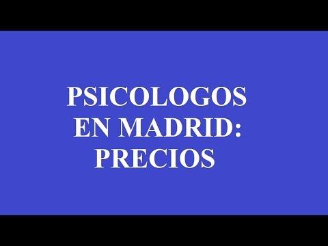 PSICOLOGOS MADRID: PRECIOS Y TARIFAS