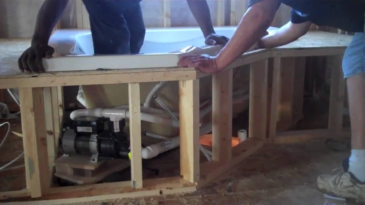 Installation Of Bathtub